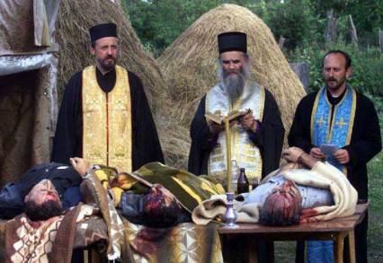 Requiem for the murdered Serbian civilians in Gracko, Kosovo